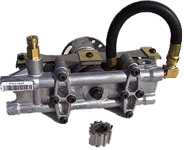 Devilbiss Pump with a hose from pressure systems