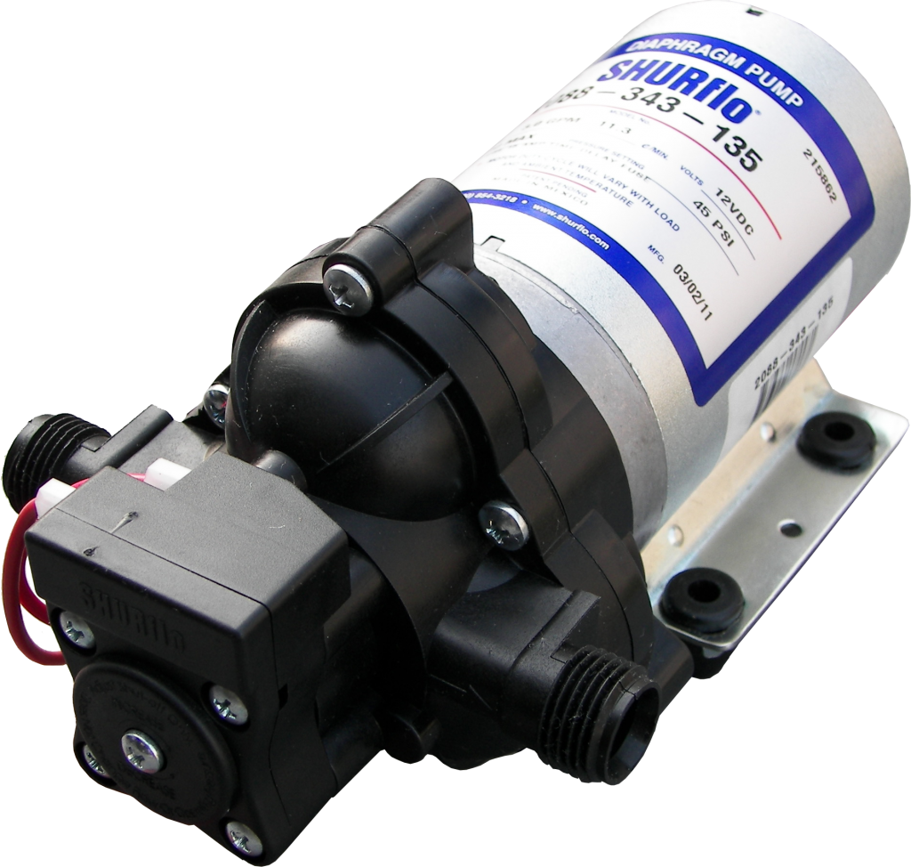 Diaphragm pumps at pressure systems with a cylindrical shape