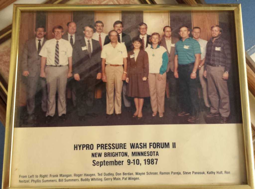Hypro Pressure Wash Forum II Sep 9-10, 1987 Bill Sommers from Pressure Systems