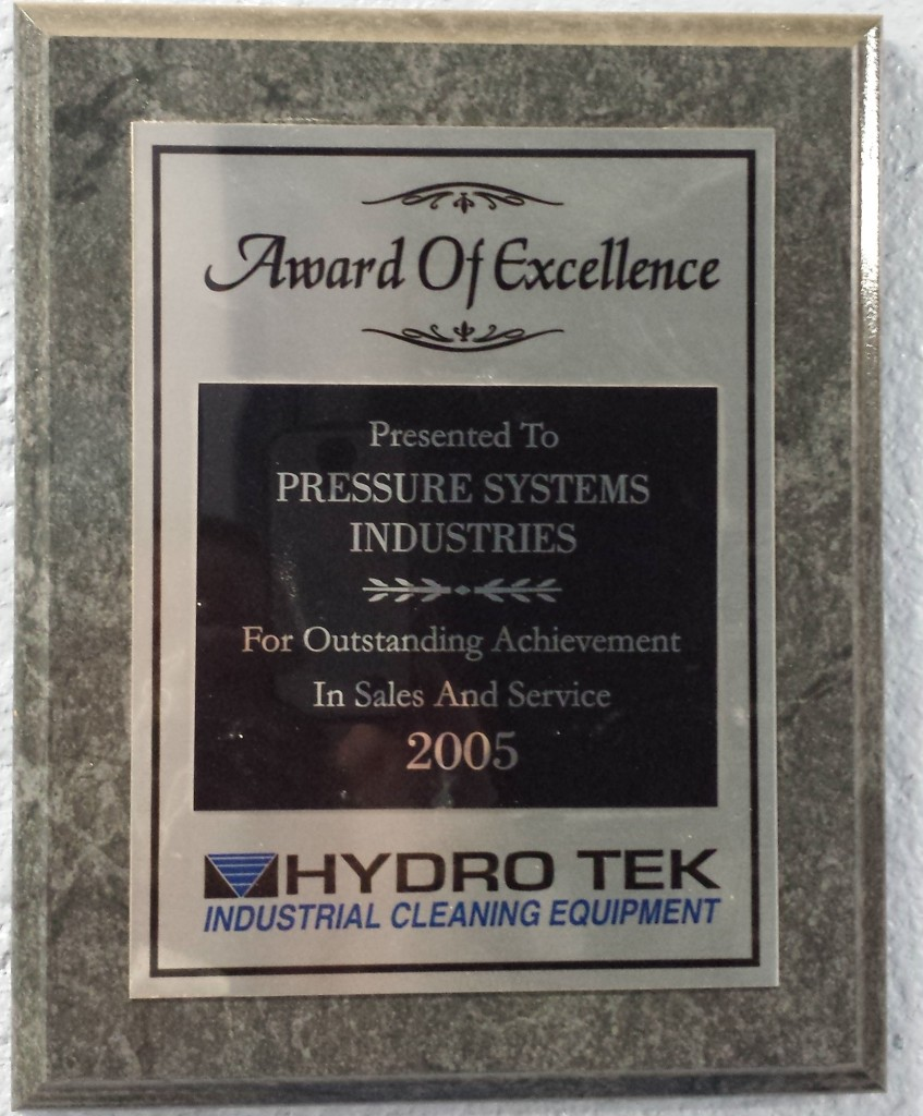 Pressure Systems HydroTek Sales and Service for Pressure Washers 2005
